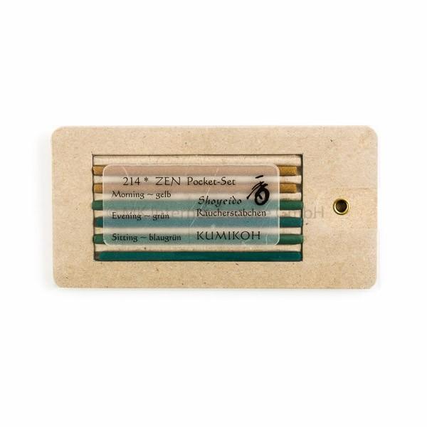 Zen Pocket-Set - Japanische Räucherstäbchen Shoyeido