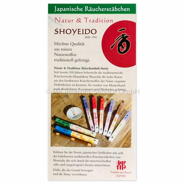 Duftproben Natur & Tradition - Japanische Räucherstäbchen Shoyeido
