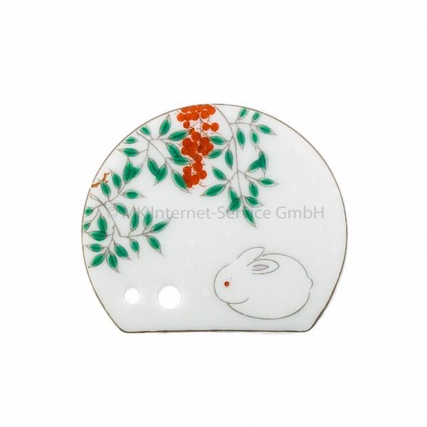 Japanischer Räucherstäbchenhalter Harumachi (Weißes Kaninchen)