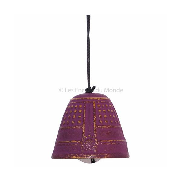 Windspiel Glocke aus Gusseisen violett-gold