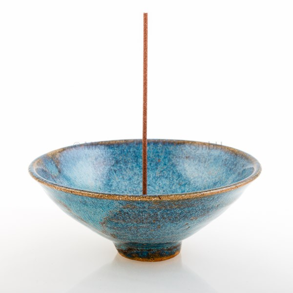 Japanischer Räucherstäbchenhalter Umi (Ozean), blau