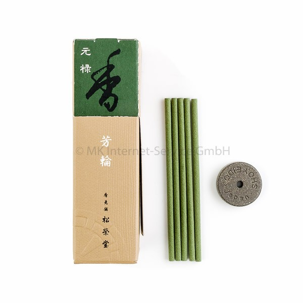 Horin Genroku (grün) - Japanische Räucherstäbchen Shoyeido (20)