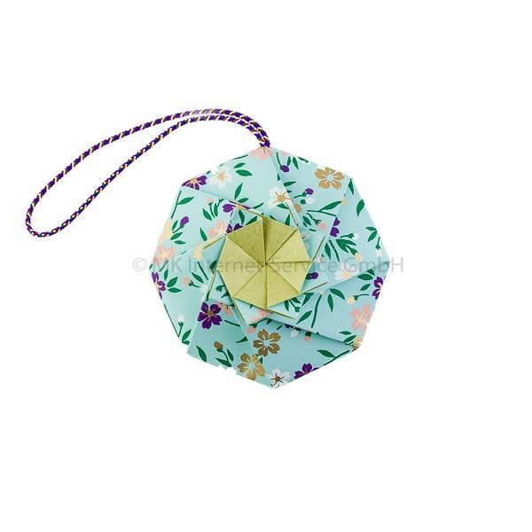 Japanisches Origami Blumen-Sachet Hana-kuruma, hellblau - Shoyeido