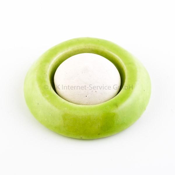 Duftstein aus Keramik, grün