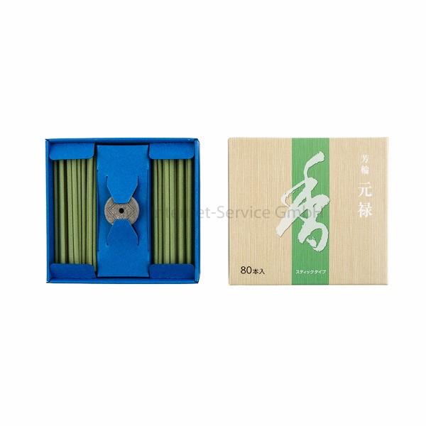 Horin Genroku (grün) - Japanische Räucherstäbchen Shoyeido (80)