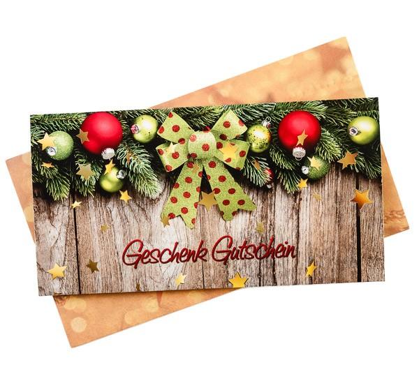 Geschenkgutschein Motiv Weihnachten 50 € (mit Karte)