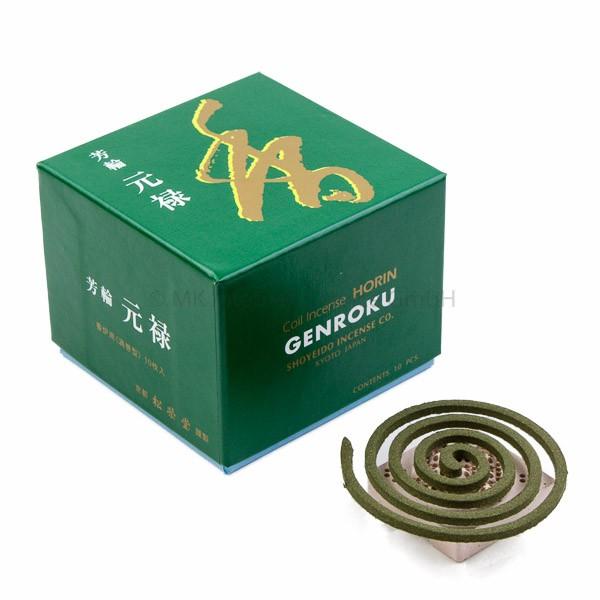 Horin Genroku (grün) - Japanische Räucherspiralen Shoyeido