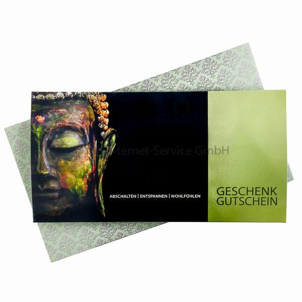 Geschenkgutschein Motiv Buddha 50 € (mit Karte)