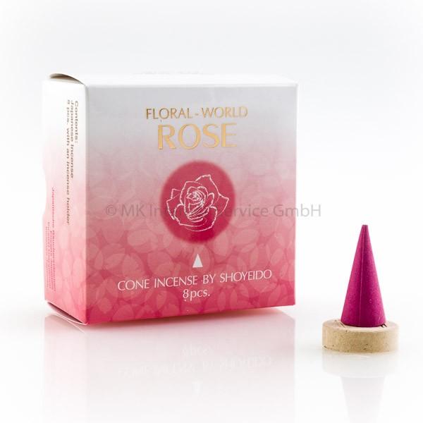Floral World Rose - Japanische Räucherkegel Shoyeido