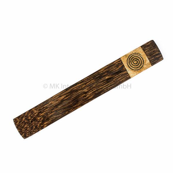 Räucherstäbchenhalter aus Palmholz mit Spirale