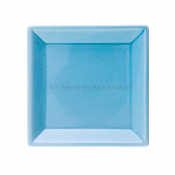 Japanischer Räucherteller aus Keramik, hellblau