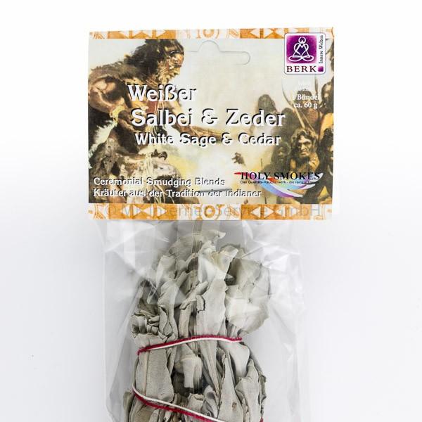 Smudge Stick Weißer Salbei und Zeder