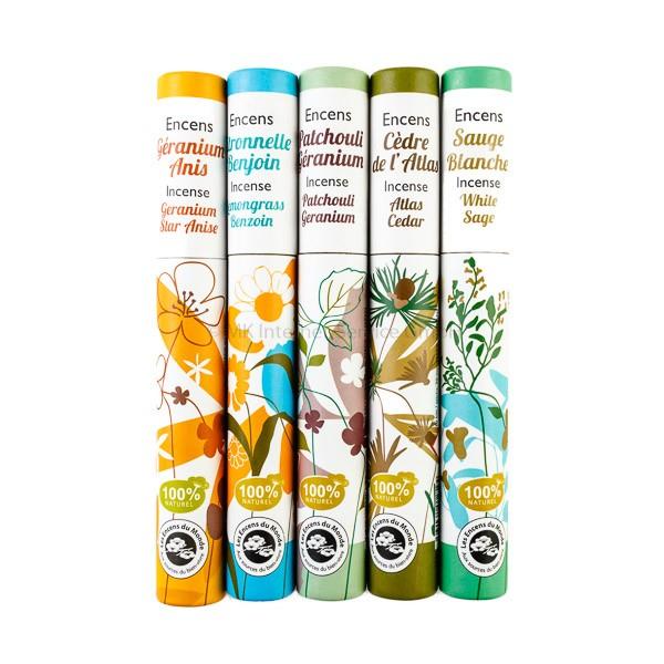 Pflanzliches Räucherstäbchen-Sortiment Herbosense Les Encens du Monde Nr. 1 (5er Set)
